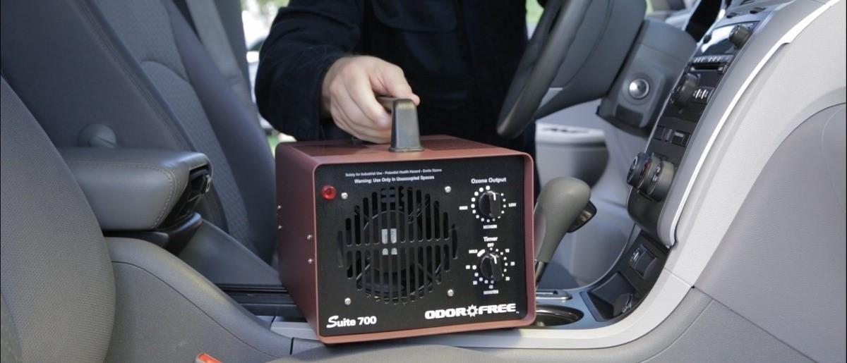 Desinfección del vehículo con ozono